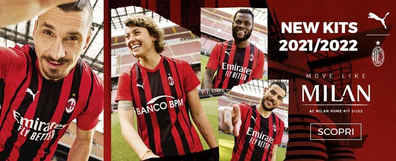 Nuovo kit squadra AC Milan